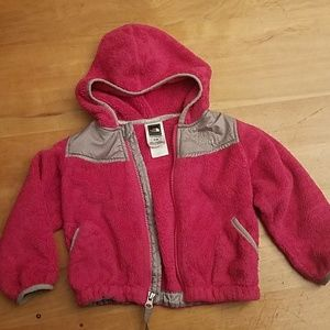 North face coat magenta 2t